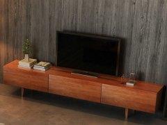 奥丁 水曲柳胡桃木色全实木电视柜
