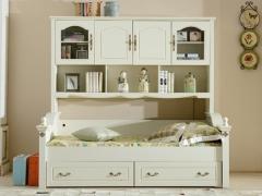艾美系列 小美式白色儿童子母床YSJZ618