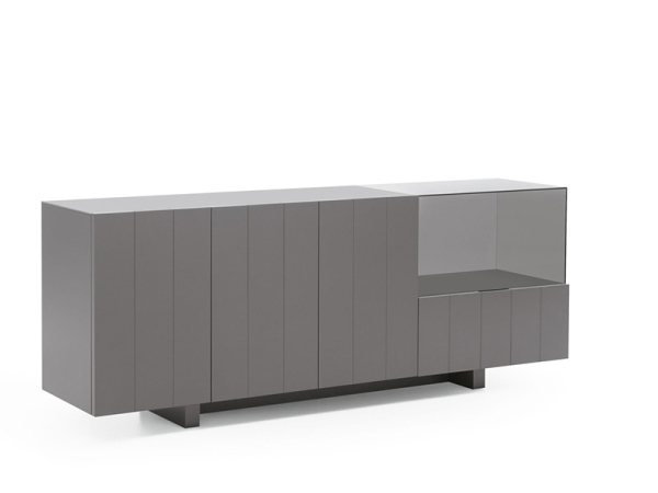 LIGNRUE 餐边柜储物柜实木碗柜酒柜简约现代隔断玻璃柜家