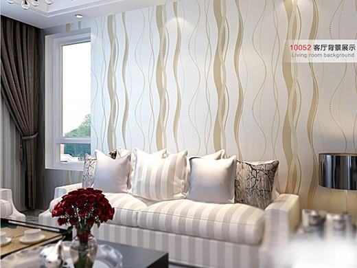 GZSBR墙纸系列 现代简约曲线条纹无纺布墙纸