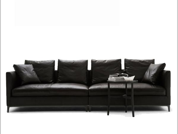 LIGNRUE 简约现代皮艺羽绒沙发头层牛皮双三人小户型家具