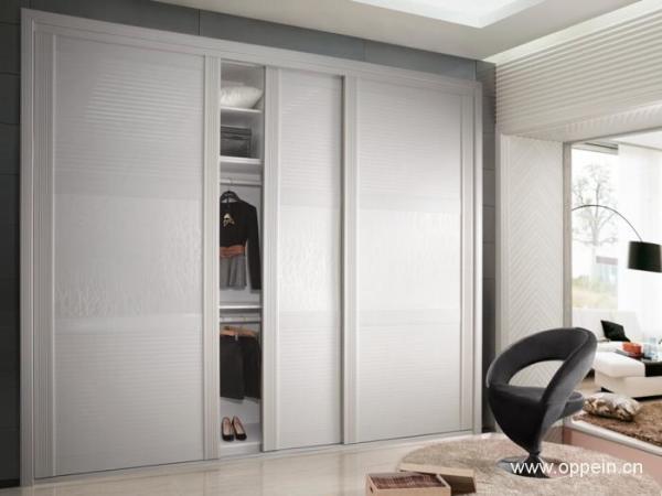 欧派住宅家具整体衣柜定做 趟门式3门衣柜 组装衣柜设计 玛莎