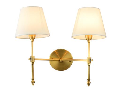 ZSBY壁灯 美式风格铁艺床头壁灯布艺双头单头壁灯