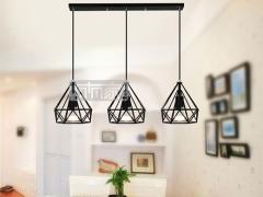 ZSBY吊灯系列 现代创意个性鸟笼灯饰三头吊灯