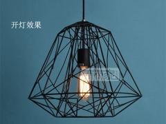 ZSBY吊灯系列 钻石铁笼乡村美式创意艺术吊灯