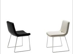 LIGNRUE欧式电脑椅子家用不锈钢架餐椅简约现代休闲靠背椅