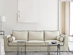 LIGNRUE 简约现代新中式三人布艺沙发组合可拆洗客厅家具