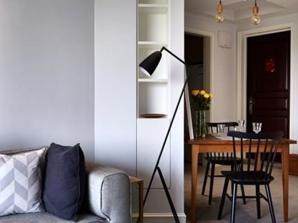 时尚现代风格小户型客厅原木小茶几图片