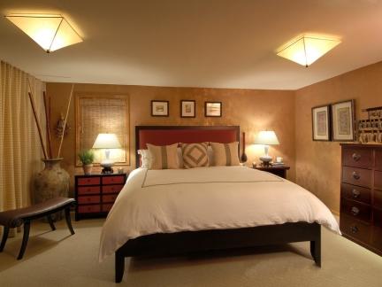 复古中式风格四居室卧室装修效果图-2017中式复古装修图 房天下装修