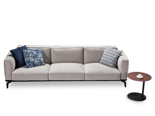 LIGNRUE 三人座沙发简约现代大小户型客厅布艺沙发家具