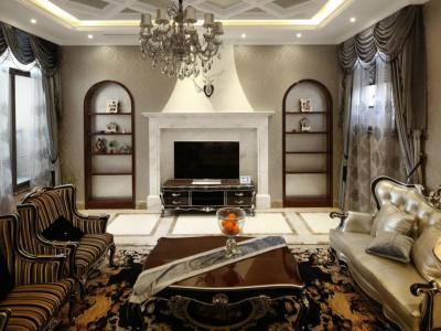 欧美风情-378平米四居室装修设计