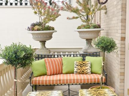 自在美式风格别墅休闲阳台装修图片