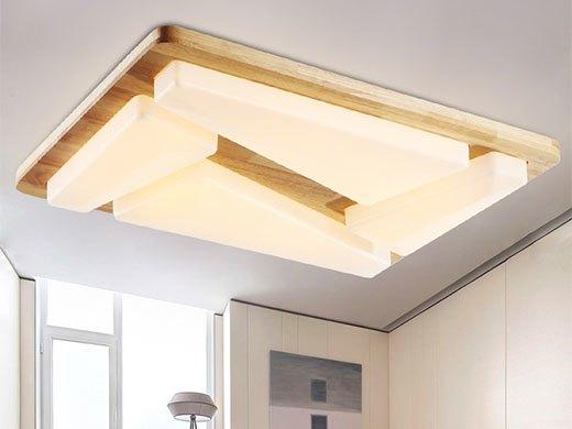 AJS吸顶灯 LED创意实木吸顶灯AJS006