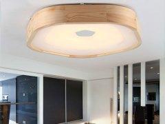 AJS吸顶灯 简约木框LED吸顶灯AJS005