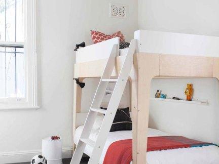 时尚混搭风格儿童房上下床装修案例