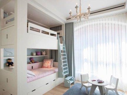时尚美式风格儿童房上下床装修效果图