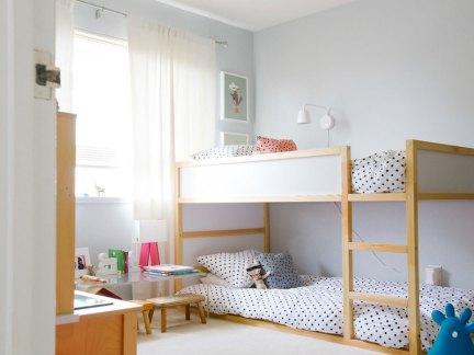时尚简约风格儿童房上下床设计图