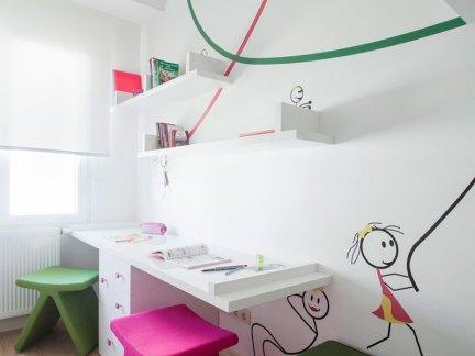 时尚简约风格儿童房书桌设计
