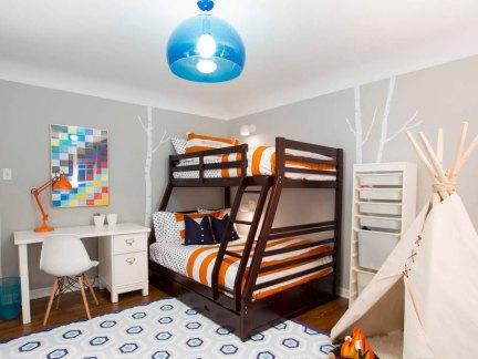 家装混搭风格三居室儿童房装修效果图