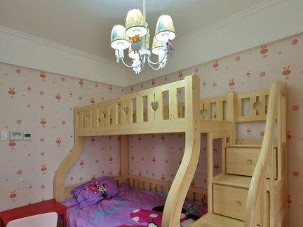 家装现代风格儿童房实木床效果图大全