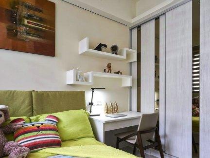 家装现代风格卧室书桌装修案例