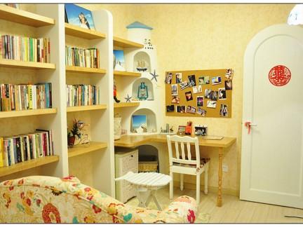 地中海风格二居室书房书架装修效果图大全