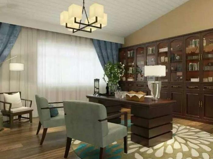 中式风格-124平米三居室-装修样板间