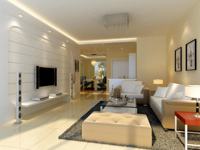 现代简约-121.83平米三居室-装修样板间