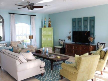 时尚东南亚风格客厅沙发装修效果图