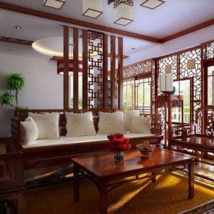 中式古典四居室装修效果图
