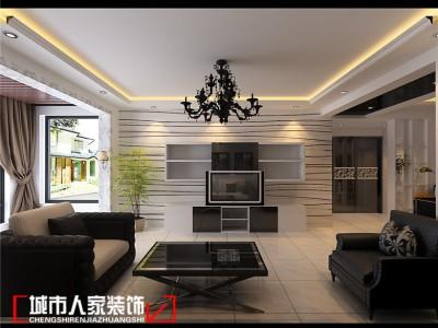 后现代风格-117平米三居室装修样板间