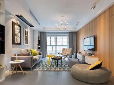 现代简约-129平米四居室装修样板间