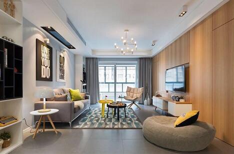 现代简约-129平米四居室-装修样板间