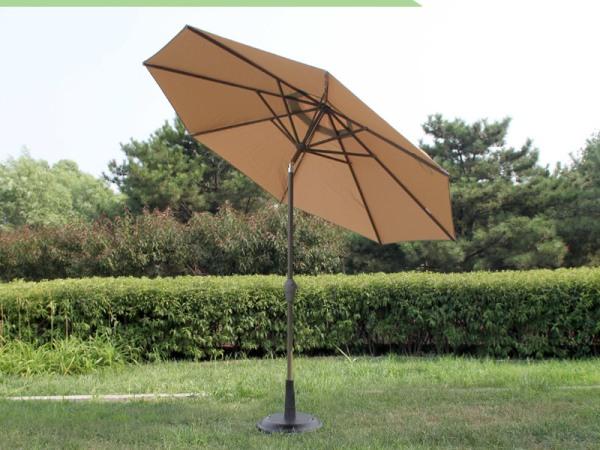偏转灯光伞手摇中柱伞户外桌椅伞大太阳伞馨宁居户外遮阳伞