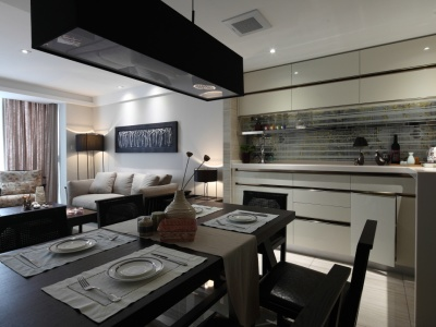 混搭风格-131.3平米三居室装修样板间