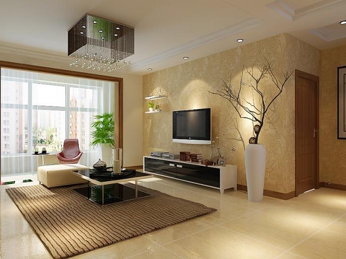 现代简约-98平米二居室-装修设计