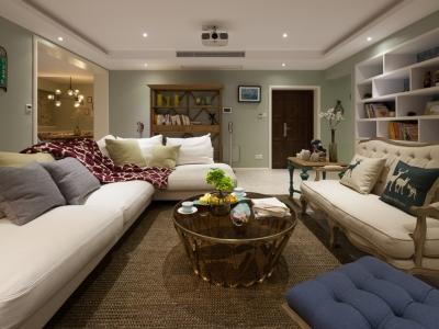混搭风格-117.4平米三居室装修样板间