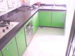 成都世嘉厨柜定做花岗石台面 防潮板柜体 超晶板门板