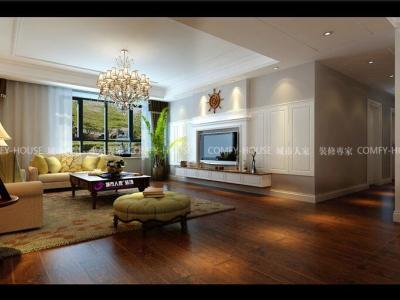 欧美风情-200平米四居室装修样板间