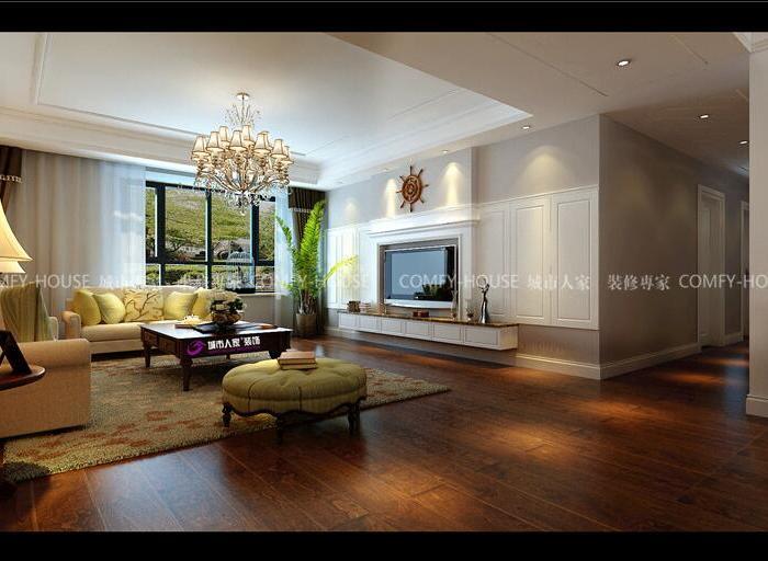 欧美风情-200平米四居室-装修样板间