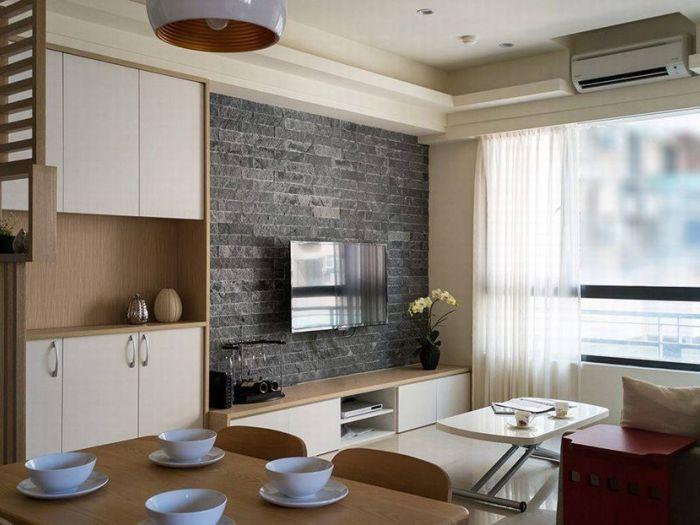 日韩风格-93平米三居室-装修样板间