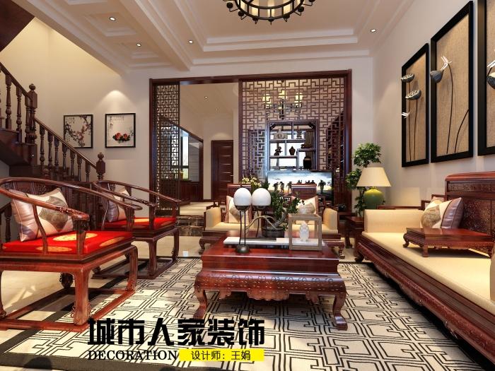 中式古典-220平米四居室-装修样板间