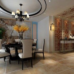 田园风格三居室餐厅装修效果图