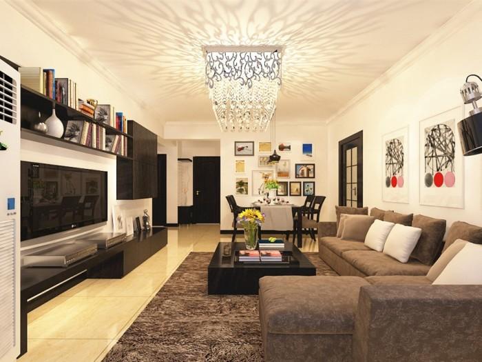 现代简约-105平米三居室-装修样板间