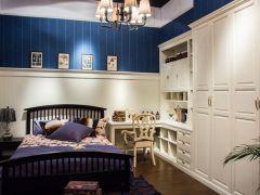 玛格定制家具 简约欧式 开门衣柜 包覆 暖白
