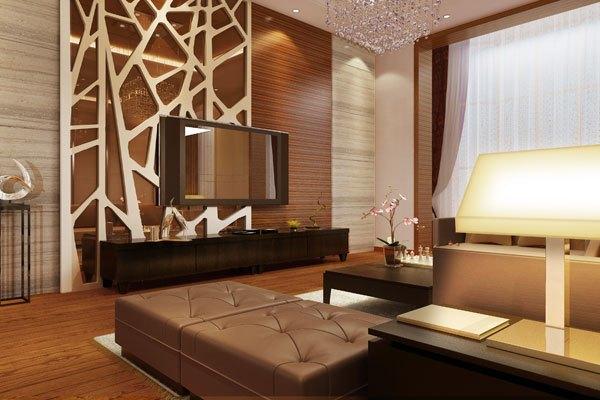 田园风格-151.34平米三居室-装修样板间