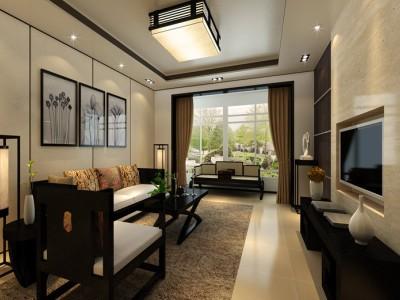 新中式-95平米三居室装修样板间