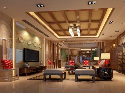 中式风格-301平米五居室装修样板间