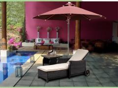 会所泳池躺椅批发|露台庭院躺椅|别墅阳台躺椅