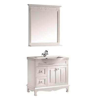 尚高 地中海风情系列 艾伦390 荷花白 浅棕色 浴室柜